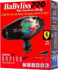 BABYLISS PRO BABF7000 Rapido Ferrari Designed Engine 2000w Hair Dryer  Brand new