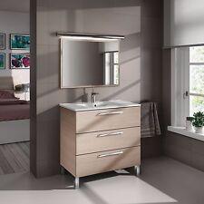 Mueble de baño o aseo con espejo color roble 80x86x45cm