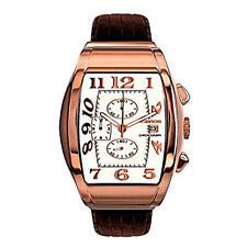 Relojes de pulsera unisex de cuero cronógrafo