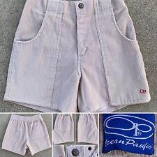 OP Ocean Pacific Corduroy Short Shorts Beige Shorts Sz 30
