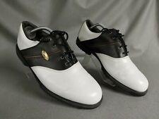 New listing Footjoy Mens White/Black Golf Shoes Size Uk 10