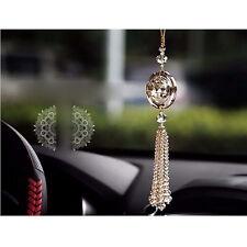 Gold Auto Car Rear View Mirror Pendant Crystal Hanging Ornament Interior Decor ~