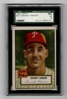1952 Topps Baseball #221 Granny Hamner - SGC 5 EX