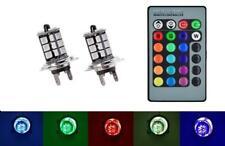 H7 DEL changement de couleur Foglight ampoules flash strobe Fade Multicolore Non Canbus