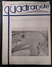 New York University Quadrangle Engineer Magazine Vtg 1933 Original Rare Vhtf Ge