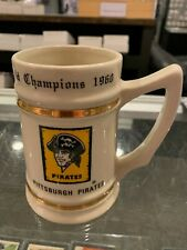 1960 WORLD SERIES CHAMPIONS PITTSBURGH PRESS PIRATES MUG CUP STEIN RARE
