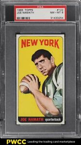 1965 Topps Football Joe Namath ROOKIE RC #122 PSA 8 NM-MT
