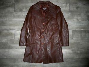 Vintage Uruguay Made Leather Jacket Car Coat Jacket Starsky Hutch Fight Club 42