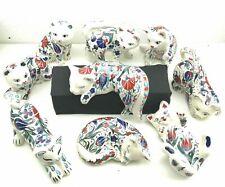 Handmade Iznik Ceramic Pet Cats, Hand Painted Lovely Cats