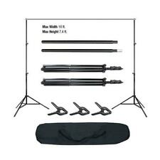 Kshioe 10ft Photography Background Support 2m Stand Photo Backdrop Kit Black