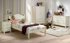RICHMOND WHITE 5 PIECE BEDROOM SET BED/MATTRESS/BEDSIDE/WARDROBE/CHEST
