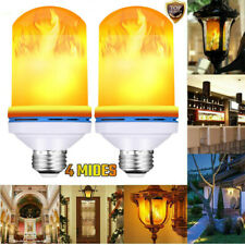 2Pack E27 LED Flame Effect Bulb Fire lamp Gravity Sensor Corn Bulbs Decor 4Modes