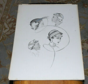 June M. Stoll 1928-2011 Brown & Bigelow 1940's Womens Fashion Original Art Lot#4