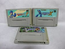 Lot 3 Rock Man Mega Man 7 X X2 Super Famicom Nintendo SNES Japan