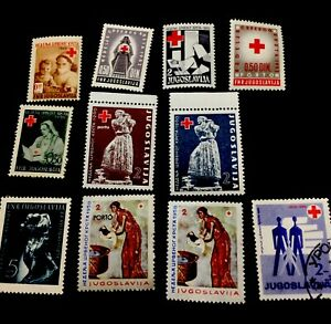 1949-1960 Jugoslavia Stamps Red Cross, Mixed