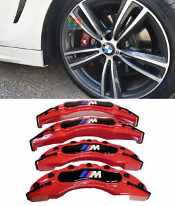 BMW 4 F32 F33 F36 COVER COPRI PINZE FRENI ROSSO ANTERIORI & POSTERIORI LOOK M