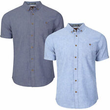 Cotton Blend Collared No Casual Shirts & Tops for Men