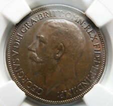 GREAT BRITAIN England 1/2 penny 1920 NGC AU 58 UNC