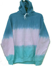 Size SMALL TRI-COLOR Hand-dyed TIE DYE Hoody Hooded Sweatshirt COMFORT COLORS