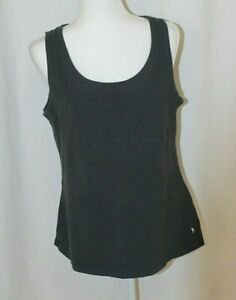 Danskin Now WOMAN GRAY DANSKIN ROUND NECK SLEEVELESS TANK TOP XL 16/18