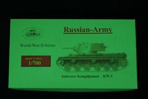 HP Models 1:700 Fahrzeug-Serie --Set mit 12 Russische Schwere Kampfpanzer KW-1