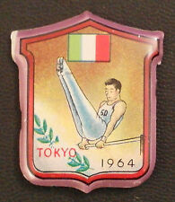 Tokyo 1964 Olympic Games gymnastics parallel bars flag of Italy pin badge