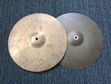 "UFIP Red Sound Medium 14"" Hi Hat Cymbals. Vintage Rare Great Condition."