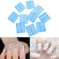 48 Sheets Flowers Lace Nail Art Water Transfer Decals Stickers White Decor FO