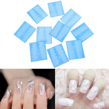 48 Sheets Flowers Lace Nail Art Water Transfer Decals Stickers White Decor ME