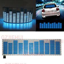 Car Music Rhythm LED Flash Light Sound Activated Equalizer Lamp 45x11CM Blue Set