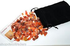 Carnelian Crystal Chips BuddyPak 2oz Pocket Pouch Card Stocking Stuffer Trauma
