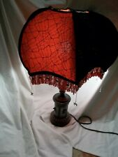 Spider Gothic/Victorian Beaded Fringe OOAK Halloween Table Lamp & Shade Oddities