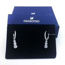 NEW SWAROVSKI Brand Attract Trilogy White Round Drop Pierced Earrings 5416155