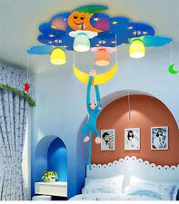 LED Chandelier Kid's Stars Moon Pendant Light Child's Room Ceiling Fixture Lamp