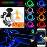 4M RGB LED Car Interior Fiber Optic Neon EL Wire Strip Atmosphere Light Kit APP