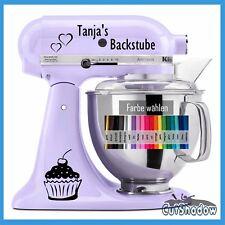 Backstube + Name Aufkleber KitchenAid kitchen aid * Küche Küchenmaschine Sticker