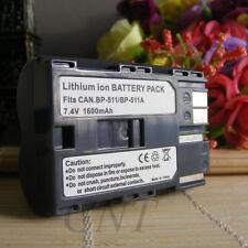 BATTERY FOR CANON BP-511 BP-511A BP511 BP-512 10D 20D 300D FV100 FV30 DM-MV30