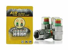4 CAR SAFETY TYRE TIRE AIR PRESSURE MONITOR VALVE CAP INDICATOR COLOUR GUAGE UK