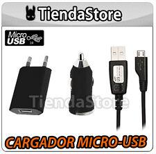 CARGADOR DE RED + COCHE + CABLE compatible SONY ERICSSON XPERIA NEO V MICRO USB