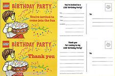 Lego Max Birthday Cake Party Invitation Invite Thank you Set Single (1) of Each