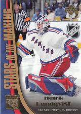 2005/6 Upper Deck Stars In The Making Henrik Lundqvist Rangers RC