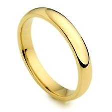 Men's Women's Solid 14K Yellow Gold Plain Wedding Ring Band 3MM Size 8