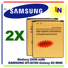2X Batteria Gold POTENZIATA 2450mAH GALAXY S3 MINI -Più autonomia dell'originale