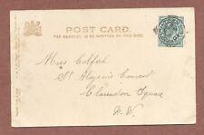 Miss Colford St Aloysius' Convent Clarendon Square London 1903 Kentish Twn RK825