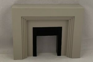 Dolls House Miniature 1/12th Scale Resin Art Deco Fireplace HW4050