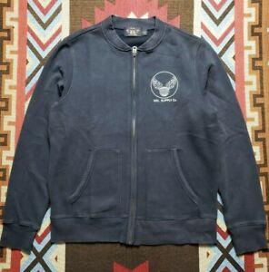 RRL Double RL Ralph Lauren Distressed Cotton Sweater Sweatshirt