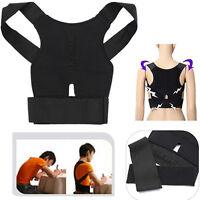 Verstellbare Stützkorrektur Rücken Schulter Klammer Gürtel Haltung Korrekto X7Z2