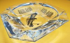"""Vintage Indianapolis Motor Speedway Glass Ashtray 1911-1955 Indy 500_8"""" x 8"""""""
