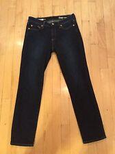 Gap Authentic Real Straight Jeans Dark Indigo 26 Petite 26P 2016
