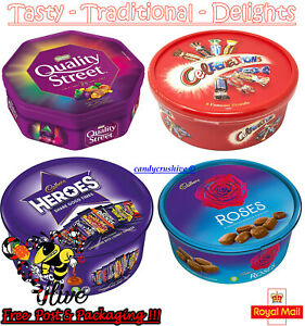 Celebrations Heroes Roses Quality Street Chocolate Tubs Gift Sweets Christmas 🎄